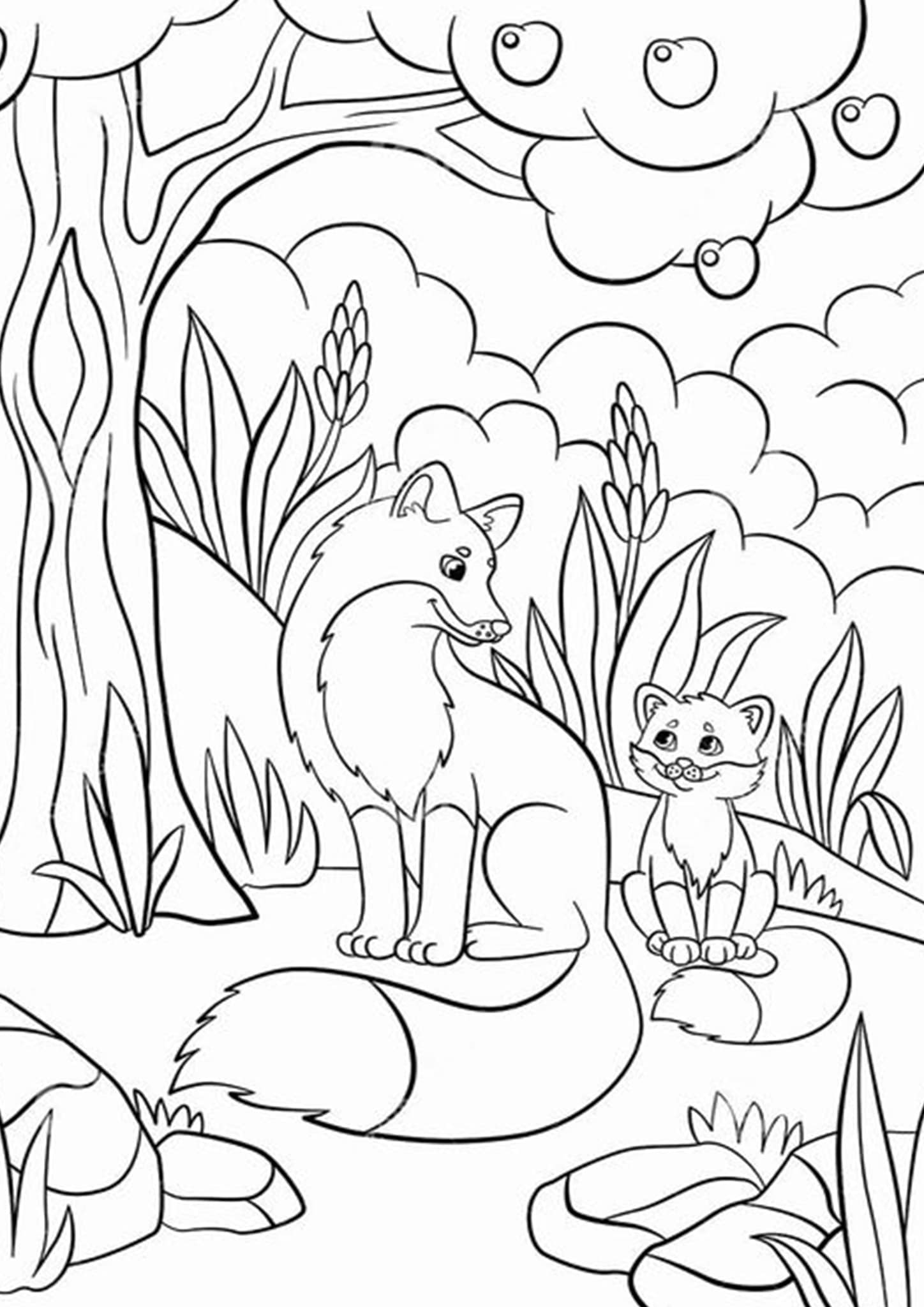 foxes coloring pages fox coloring pages for kids various poses k5 worksheets foxes pages coloring