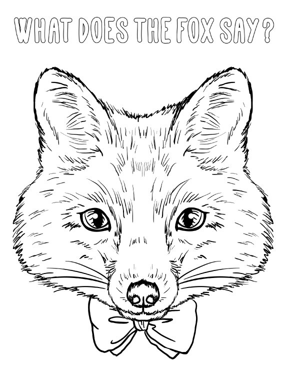 foxes coloring pages fox head coloring page at getcoloringscom free coloring pages foxes