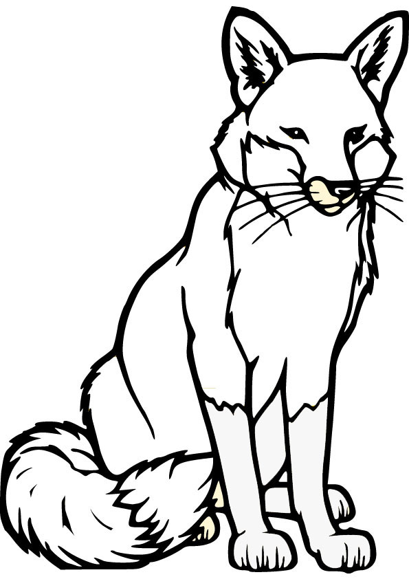 foxes coloring pages fox in socks coloring page freshcoloringpagecom pages foxes coloring