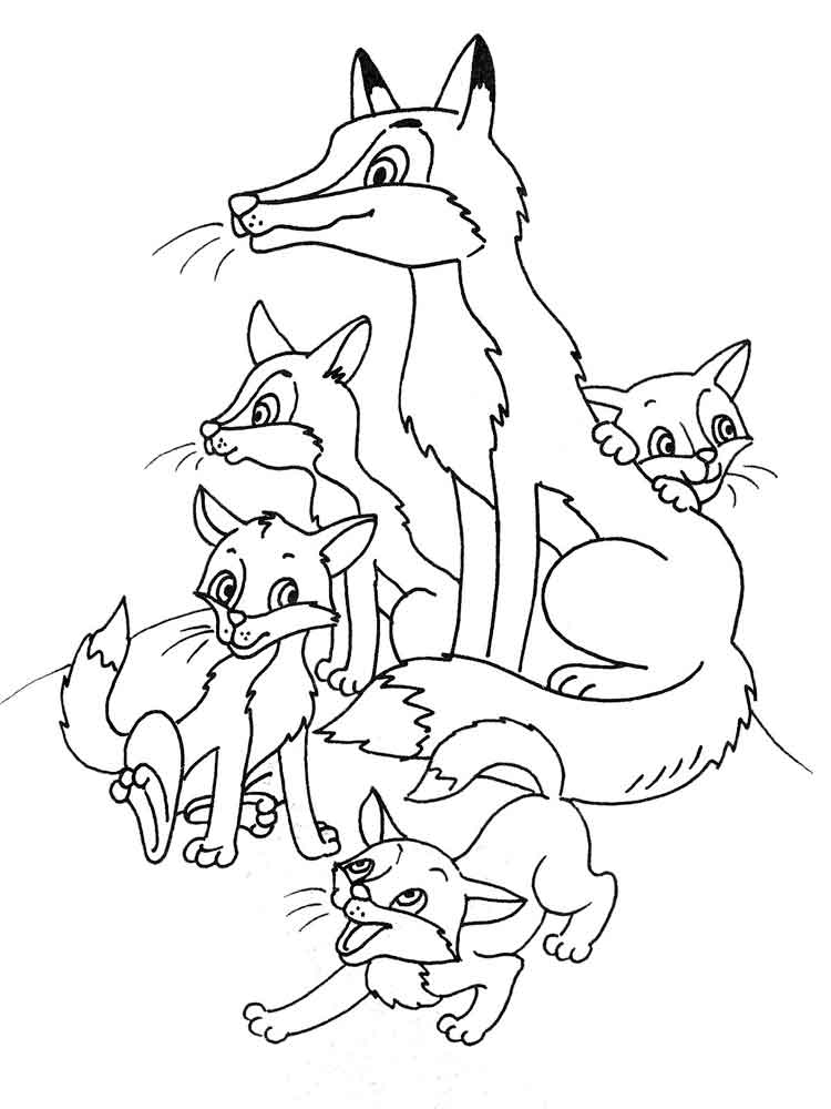 foxes coloring pages free easy to print fox coloring pages tulamama foxes coloring pages