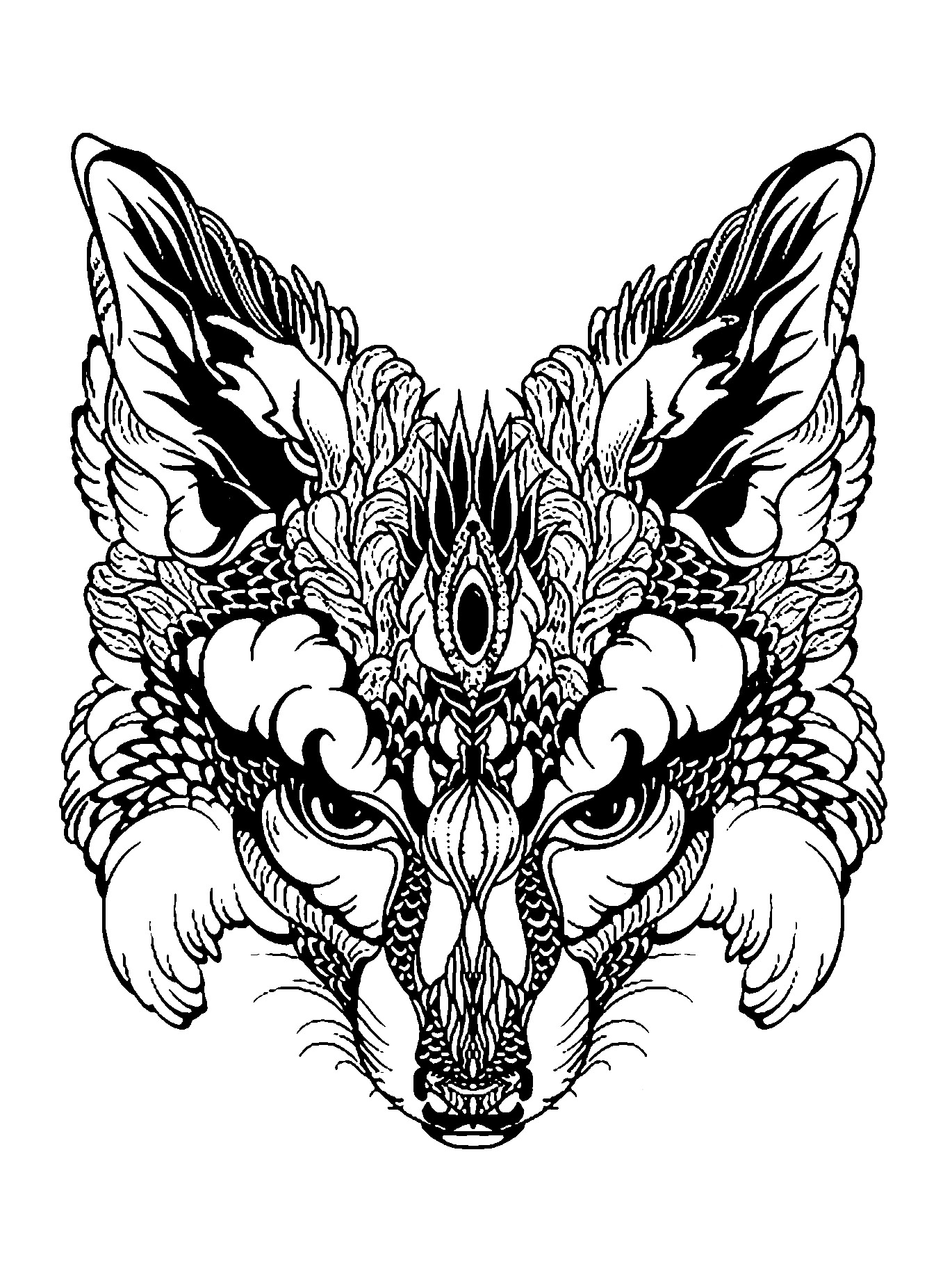 foxes coloring pages realistic fox coloring pages at getcoloringscom free coloring foxes pages