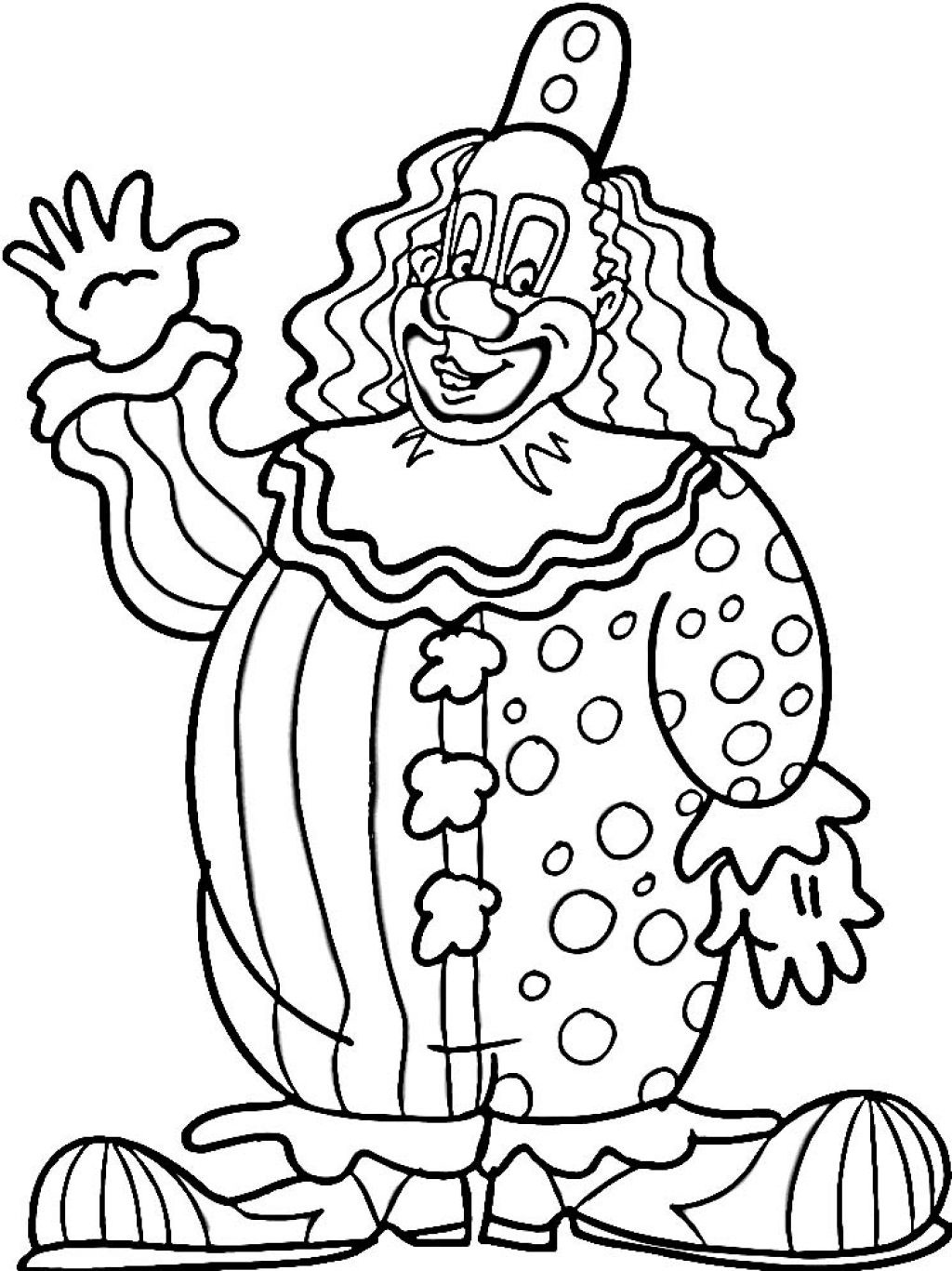 free clown coloring pages colour drawing free hd wallpapers april 2014 coloring free clown pages