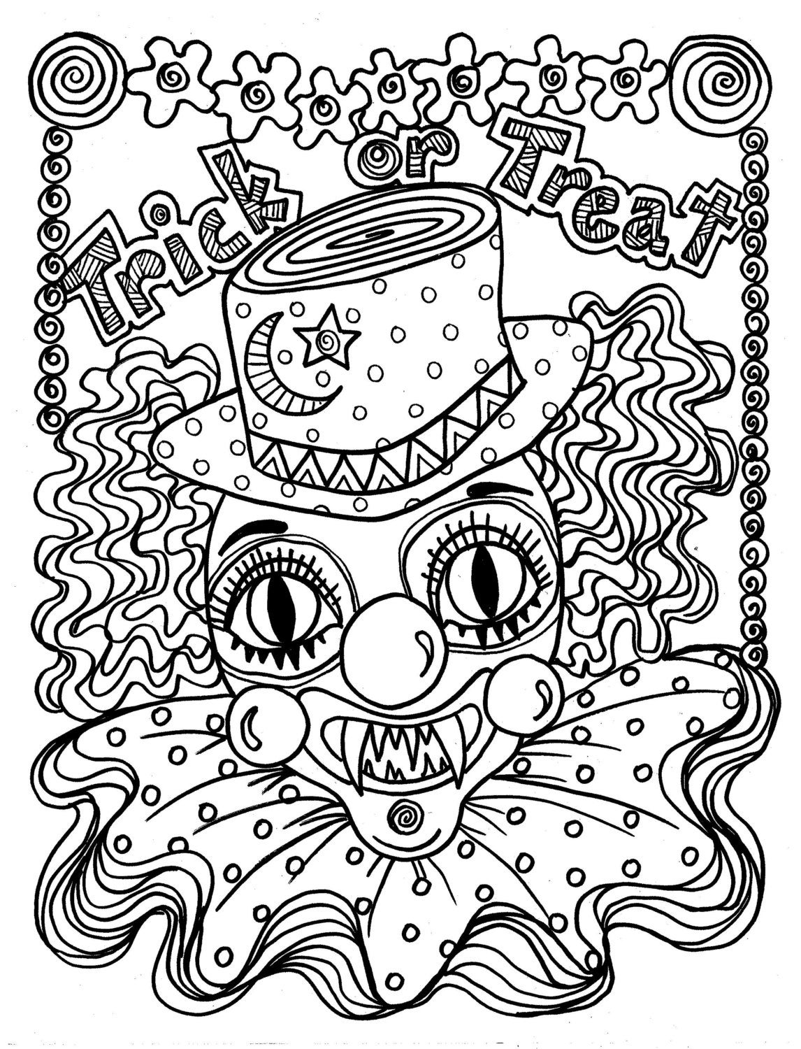 free clown coloring pages evil joker drawing at getdrawings free download clown pages coloring free