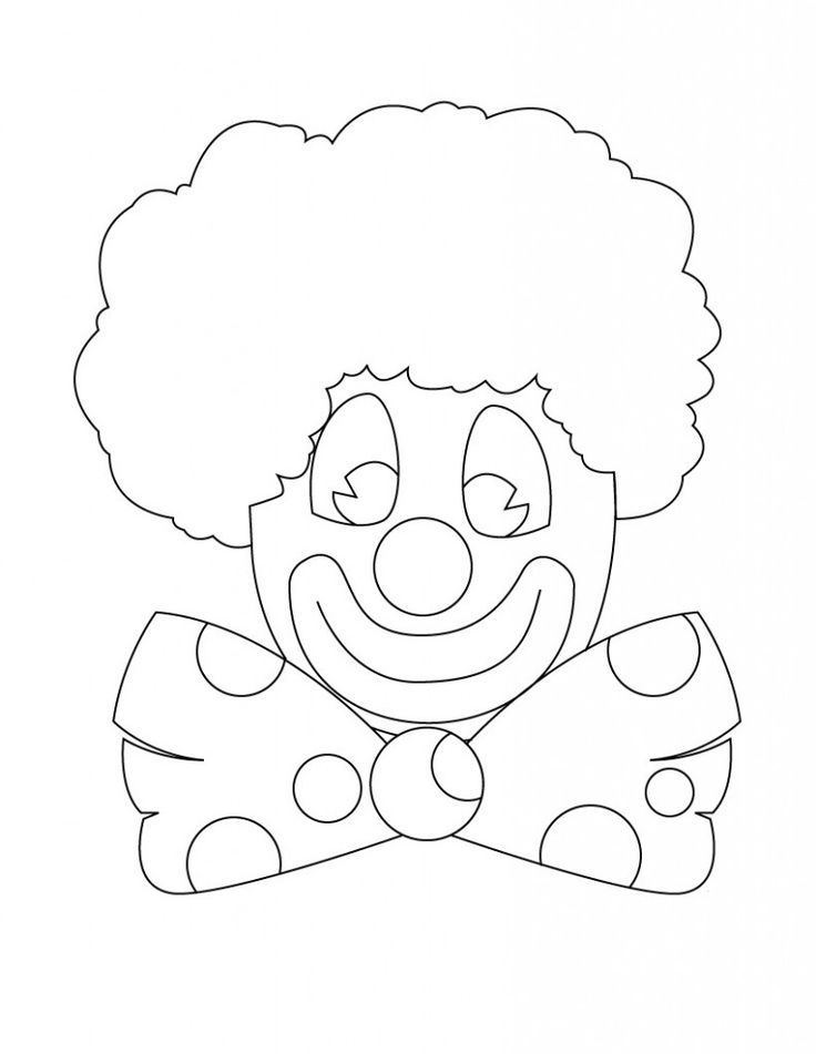 free clown coloring pages printable clown coloring pages for kids pages clown coloring free