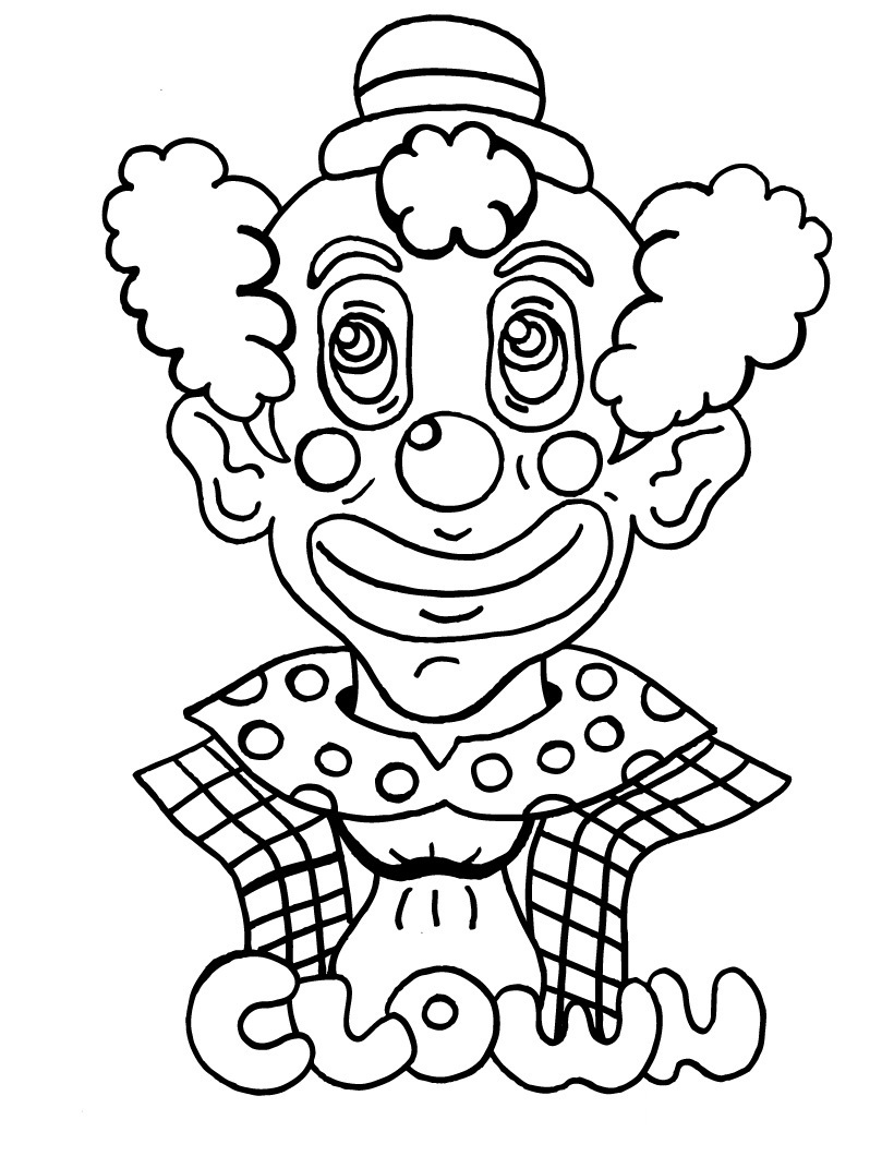 free clown coloring pages scary clown printable coloring pages coloring home coloring pages clown free