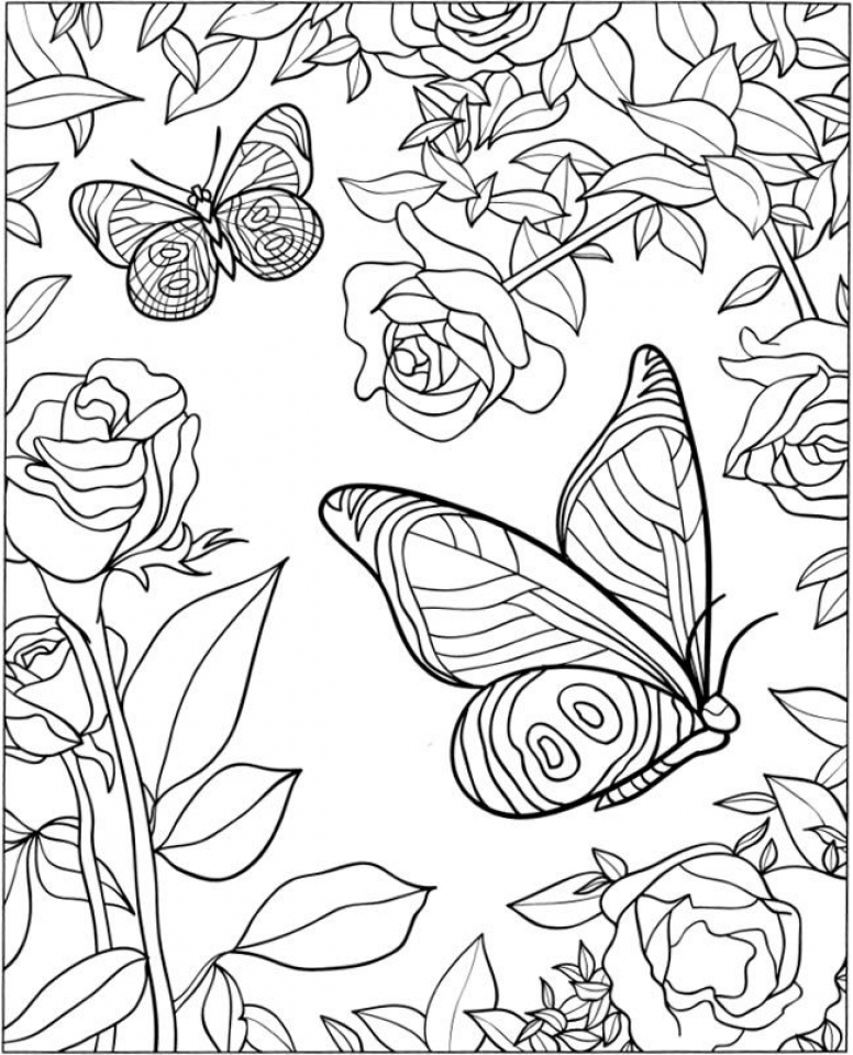 free coloring pages with designs four free flower coloring pages for adults designs free coloring with pages