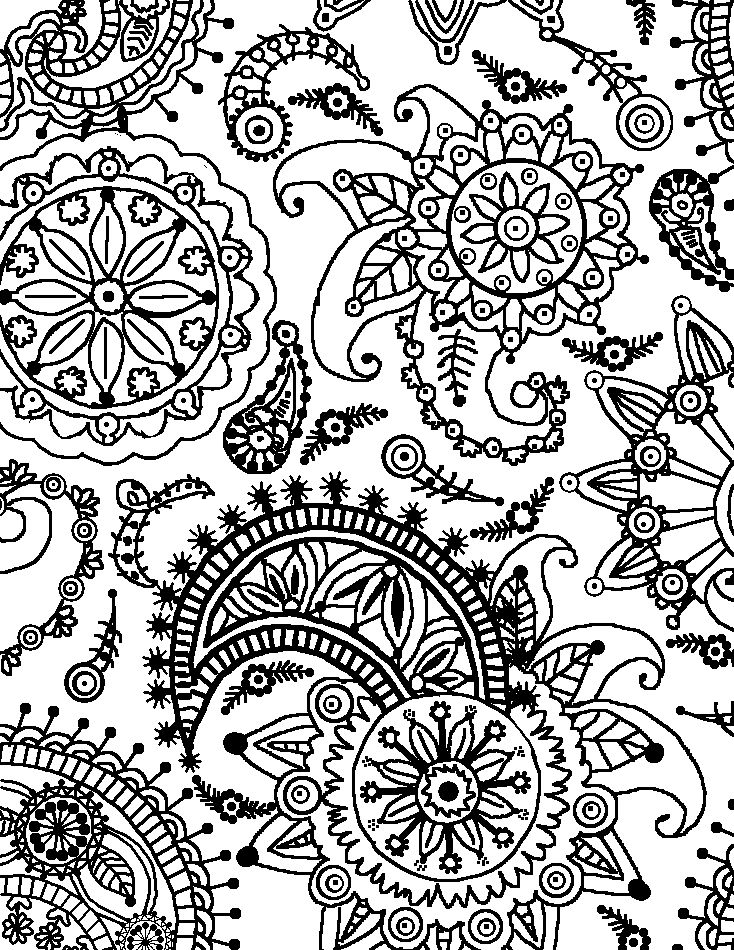 free coloring patterns coloring page world paisley flower pattern portrait free patterns coloring