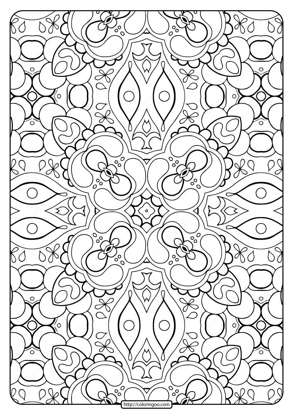 free coloring patterns printable abstract pattern adult coloring pages 01 coloring patterns free
