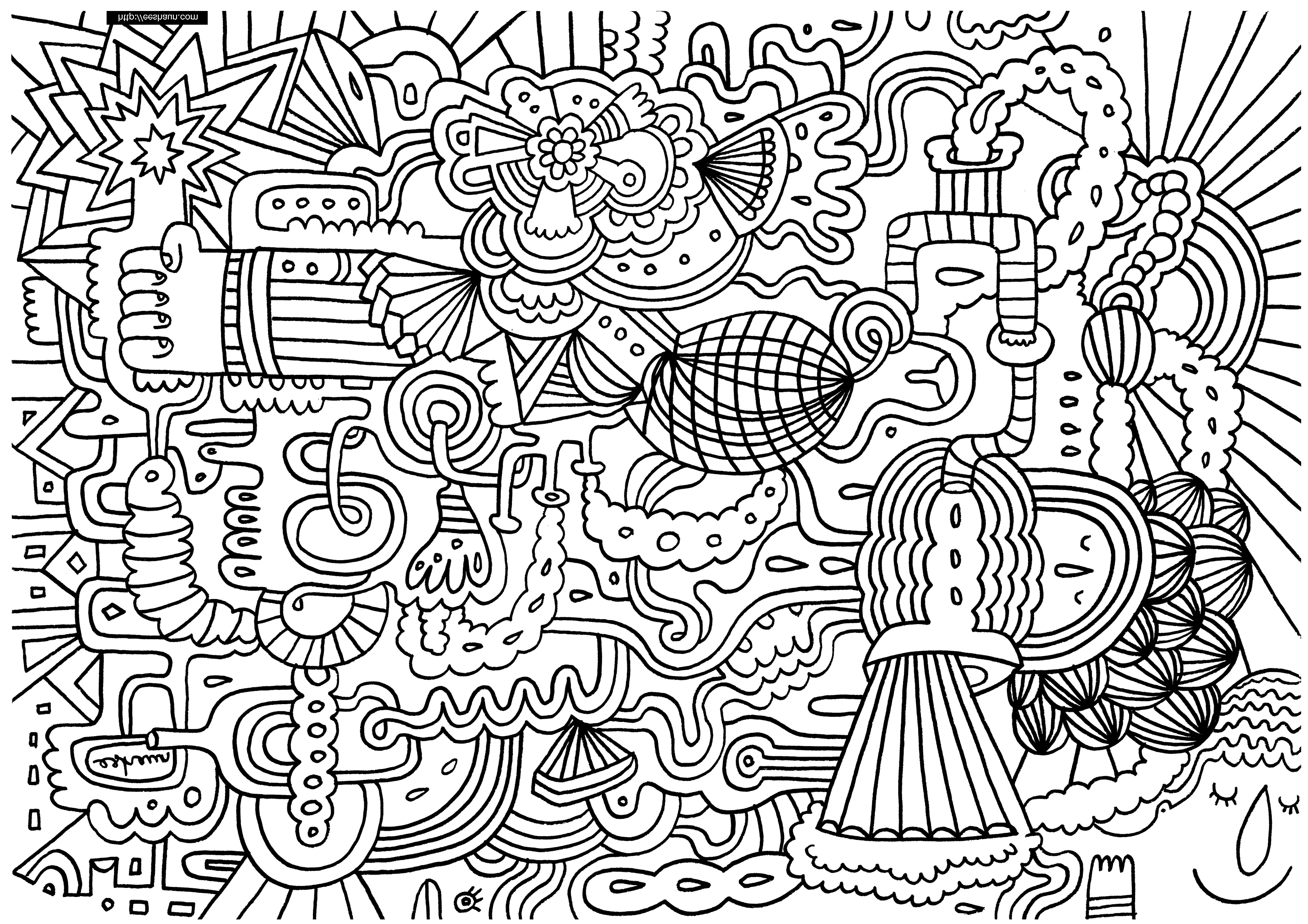 free doodle art to print and color 20 free printable doodle art coloring pages for adults to art and doodle free print color
