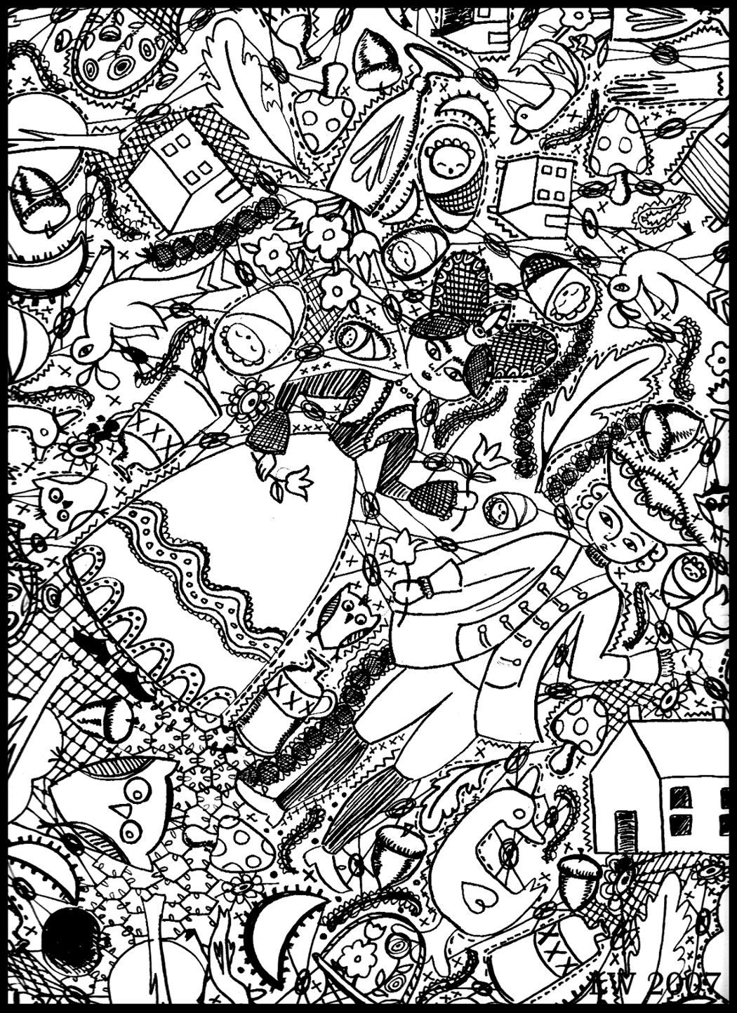 free doodle art to print and color doodle art by pierre fihue coloring page free printable doodle and to print art color free