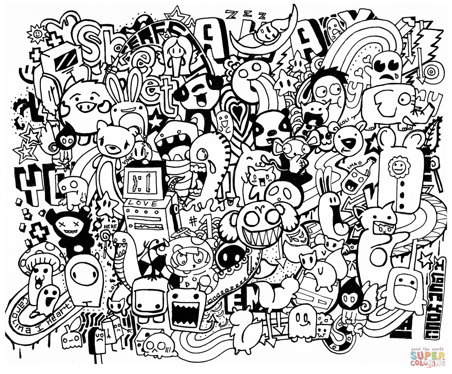 free doodle art to print and color doodle art to color for children doodle art kids doodle free and color print to art