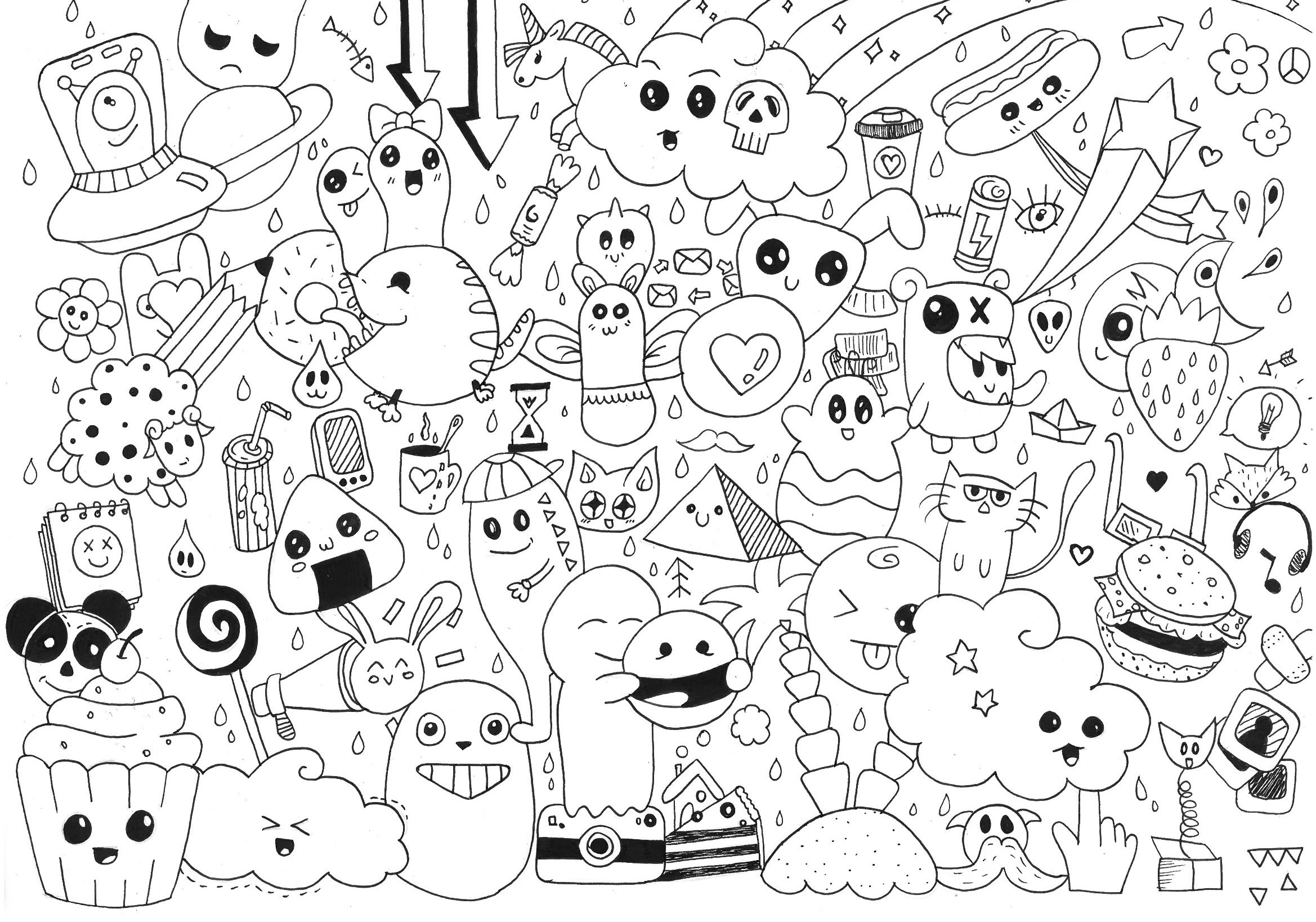 free doodle art to print and color doodle art to print doodle art kids coloring pages doodle to print and color art free