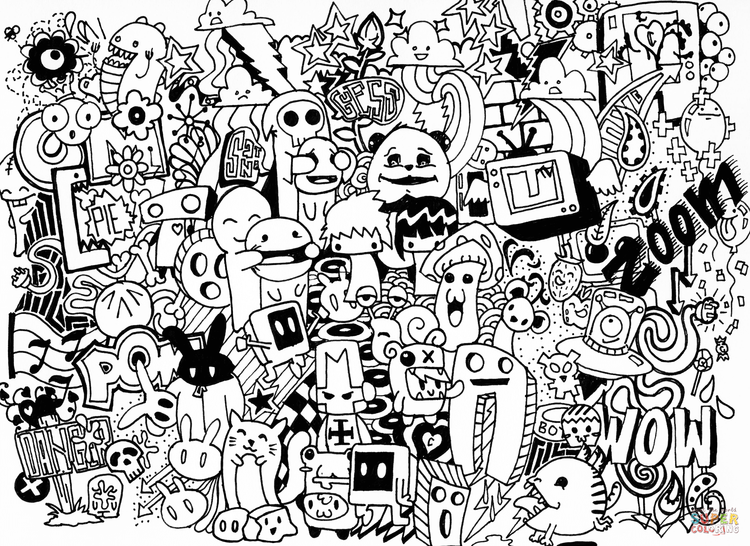 free doodle art to print and color doodle art to print for free doodle art kids coloring pages and print free to art doodle color