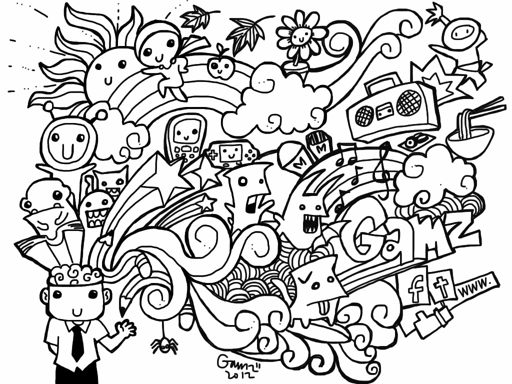 free doodle art to print and color doodle coloring pages best coloring pages for kids and free doodle art color to print