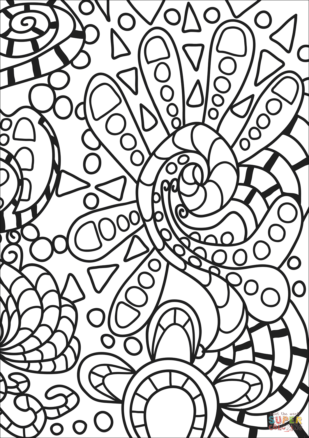 free doodle art to print and color doodle mash up coloring page free printable coloring pages art free doodle color print and to