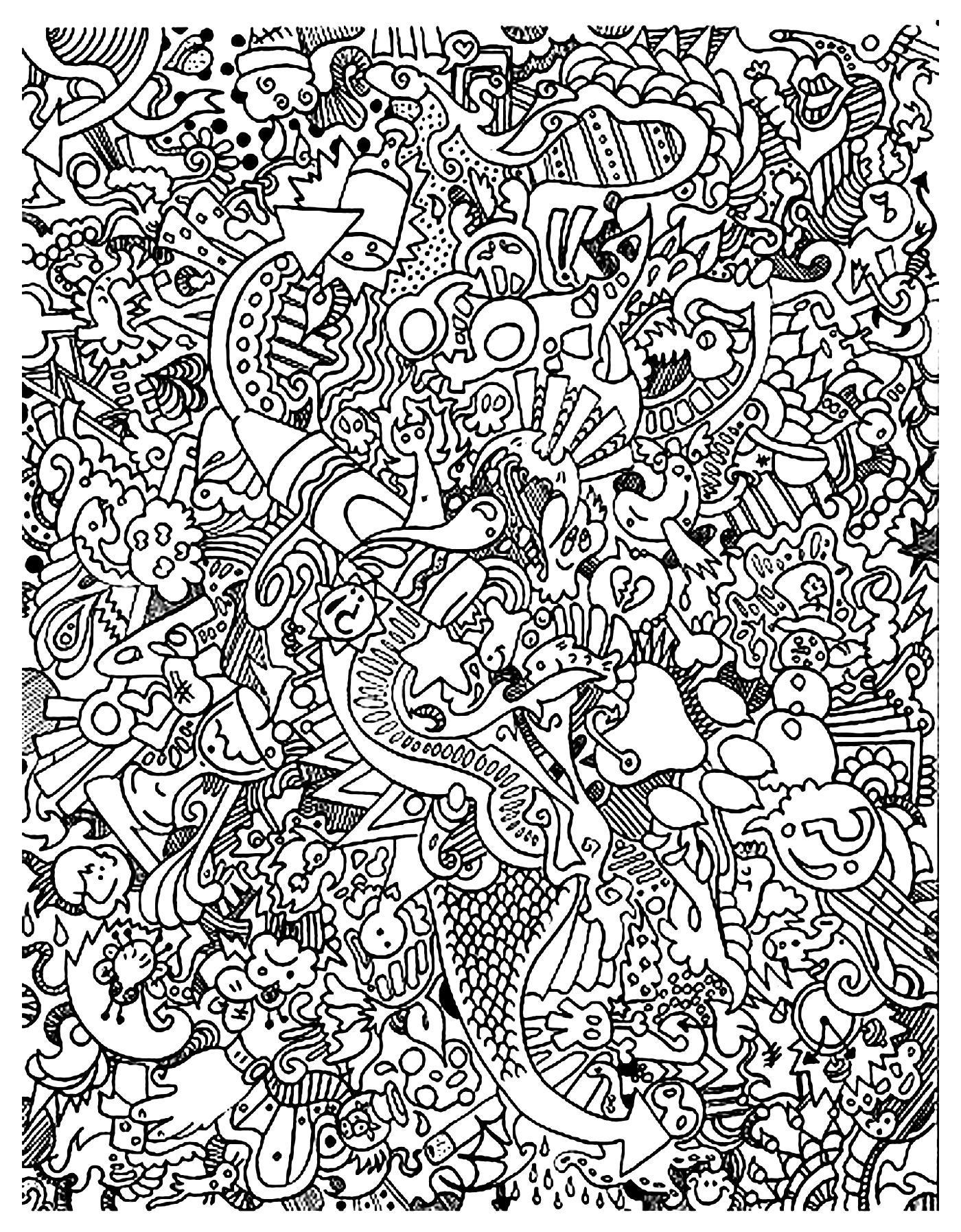 free doodle art to print and color free doodle art coloring pages coloring home free to art color doodle and print