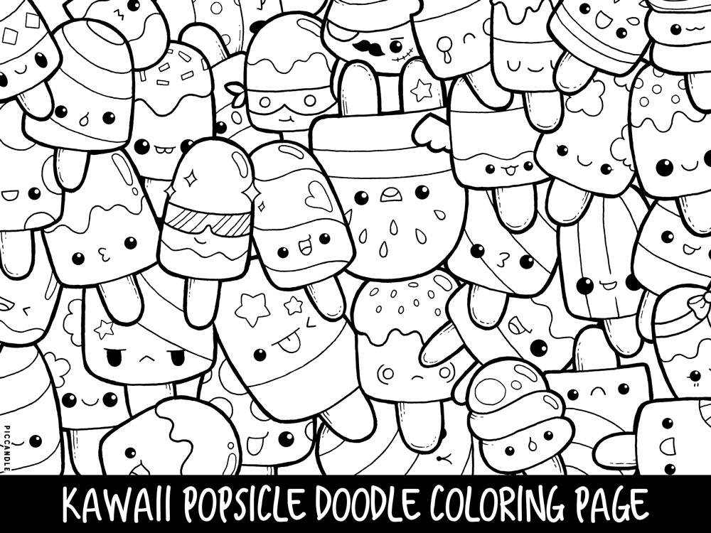 free doodle art to print and color get this kawaii coloring pages free printable doodle art color art to doodle free and print