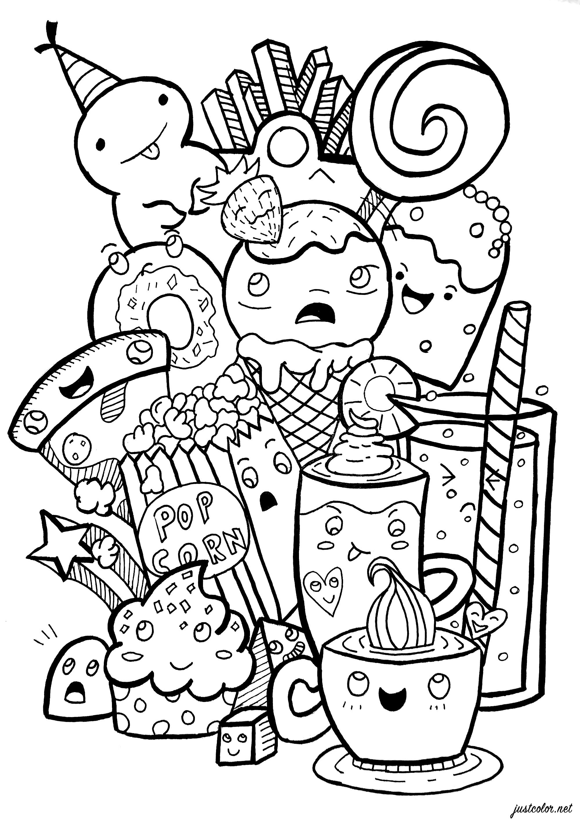 free doodle art to print and color lets doodle coloring pages coloring home to print color doodle art and free