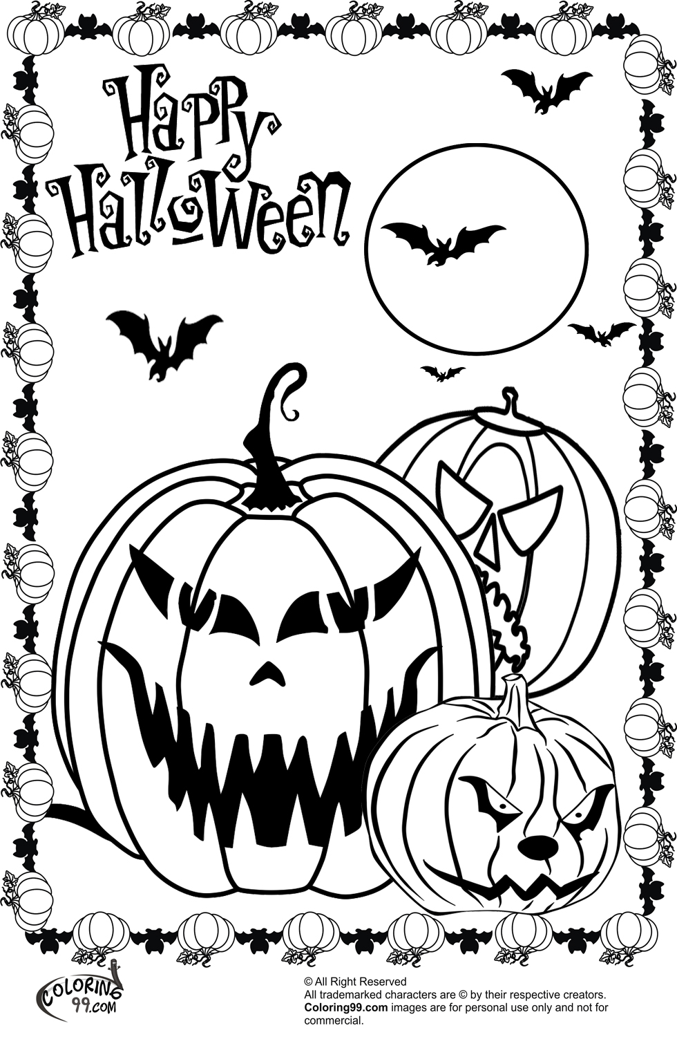 free halloween printable coloring pages free printable halloween coloring pages for adults at coloring printable free halloween pages