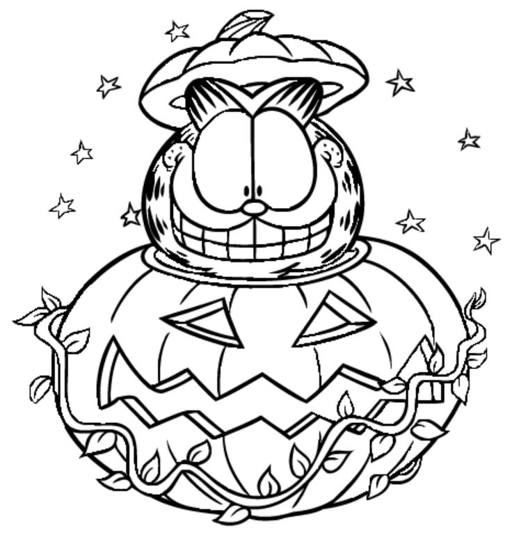 free halloween printable coloring pages garfield halloween coloring pages at getcoloringscom coloring halloween free pages printable