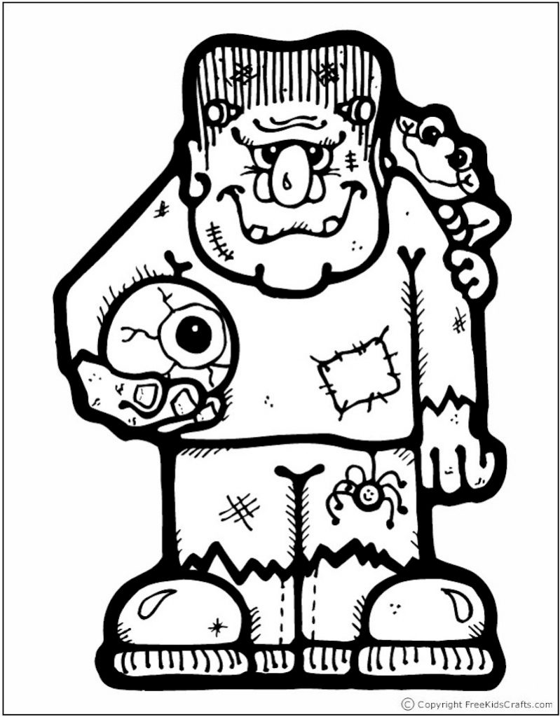 free halloween printable coloring pages halloween coloring page frankenstein free kids crafts printable coloring halloween free pages