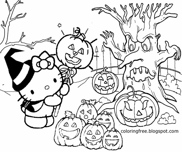 free halloween printable coloring pages halloween coloring pages getcoloringpagescom halloween free printable pages coloring