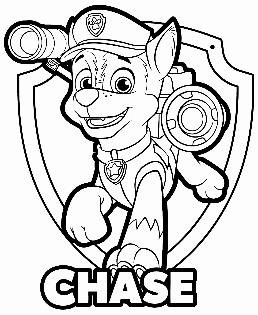 free paw patrol coloring pages chase paw patrol coloring page at getdrawings free download coloring free patrol pages paw