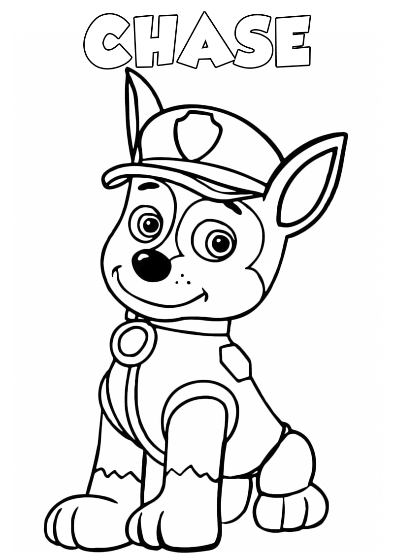 free paw patrol coloring pages chase paw patrol coloring page at getdrawings free download paw patrol pages coloring free