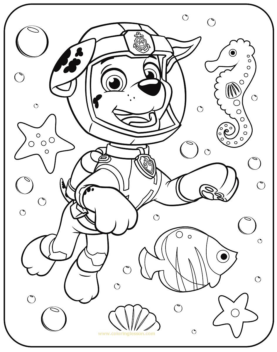 free paw patrol coloring pages marshall paw patrol coloring lesson kids coloring page pages free paw coloring patrol