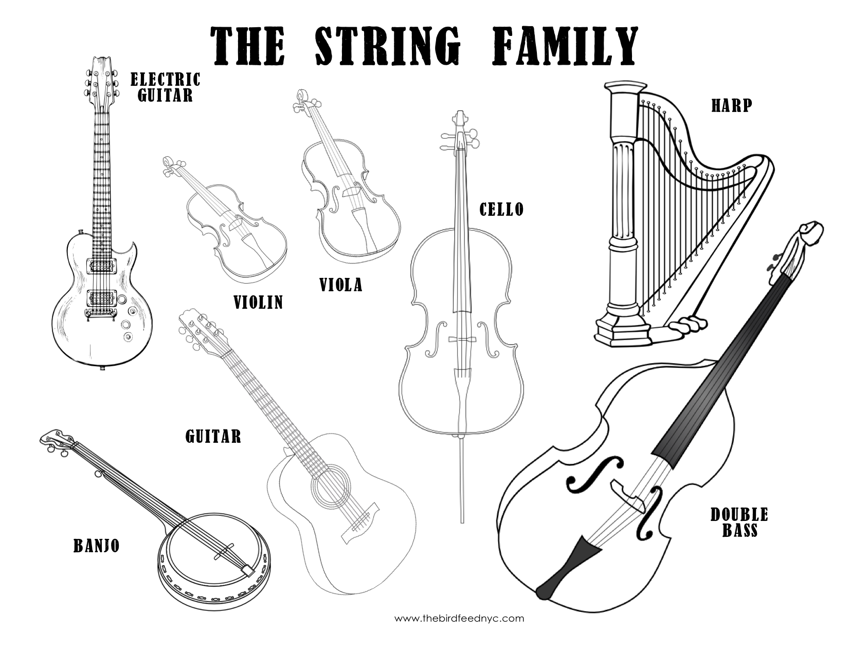 free printable coloring pages of musical instruments instrument coloring the bird feed nyc of instruments coloring printable pages musical free