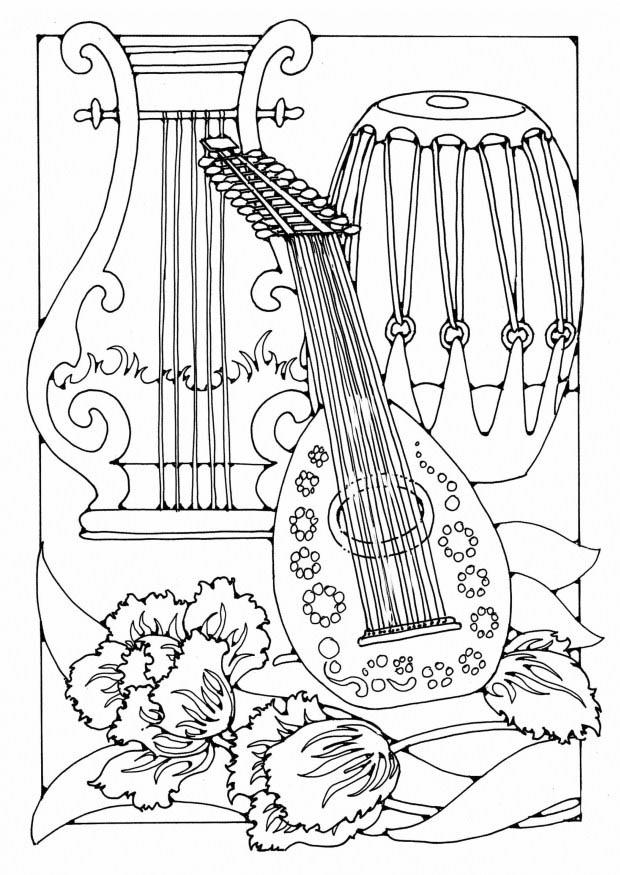 free printable coloring pages of musical instruments musical instruments coloring pages to download and print coloring printable instruments free of musical pages
