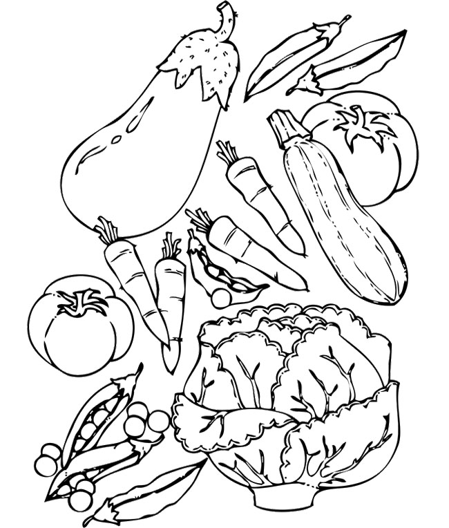 free printable coloring pages of vegetables vegetable coloring pages for childrens printable for free coloring printable vegetables of free pages