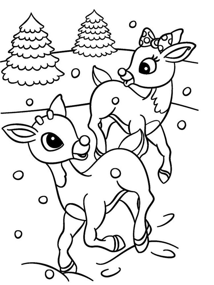 free printable reindeer coloring pages printable christmas colouring pages the organised housewife pages coloring printable free reindeer