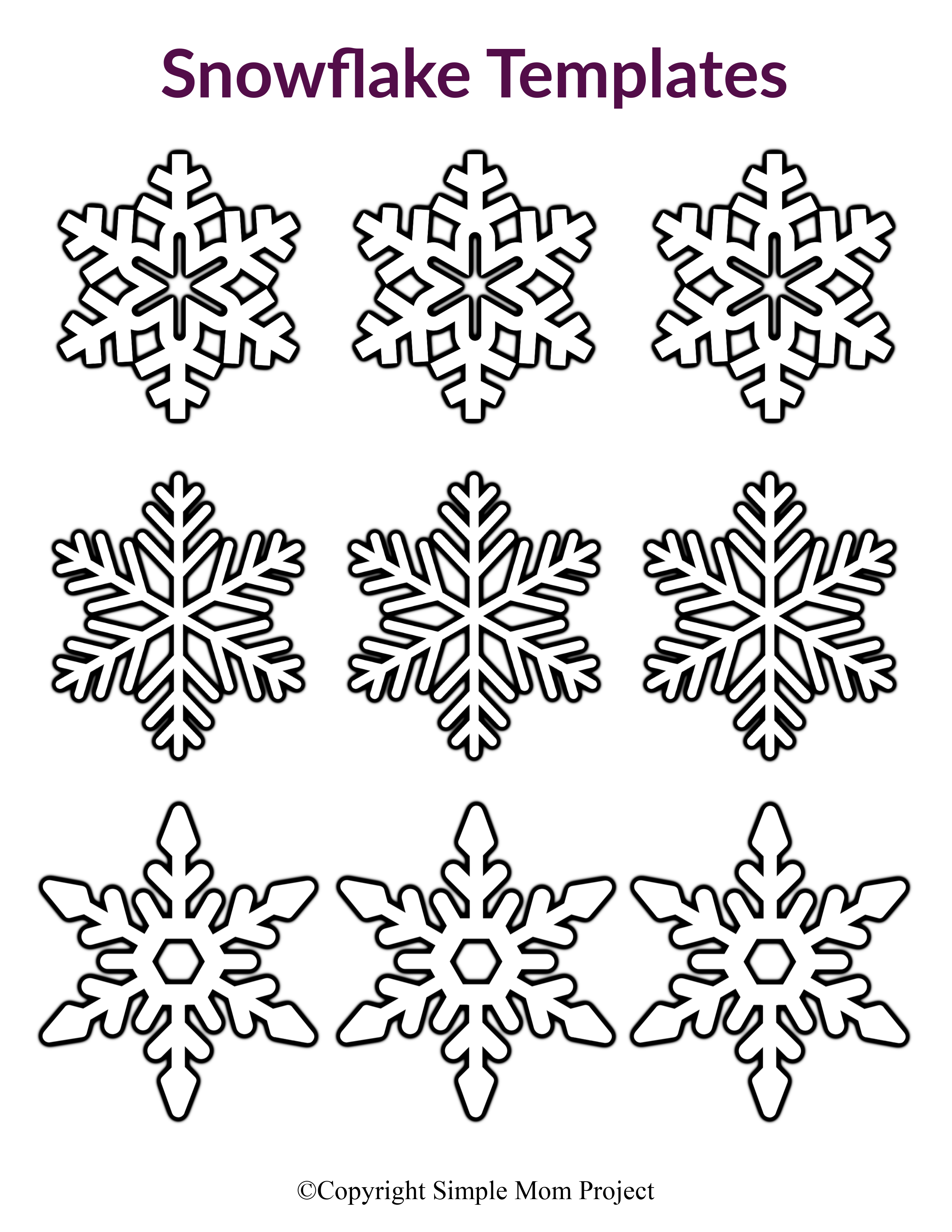 free printable snowflakes free printable snowflake coloring pages for kids snowflakes printable free