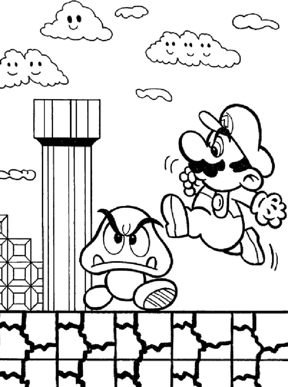 free printable super mario coloring pages goomba coloring page at getcoloringscom free printable pages super coloring free printable mario