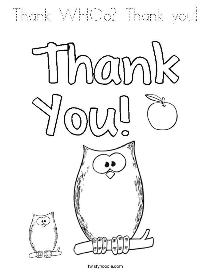 free thank you coloring pages thank whoo thank you coloring page tracing twisty noodle pages free coloring you thank