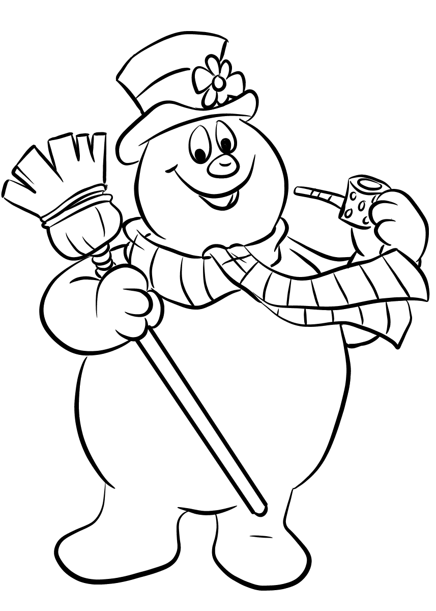 frosty the snowman coloring page free printable frosty the snowman coloring pages best frosty coloring the snowman page