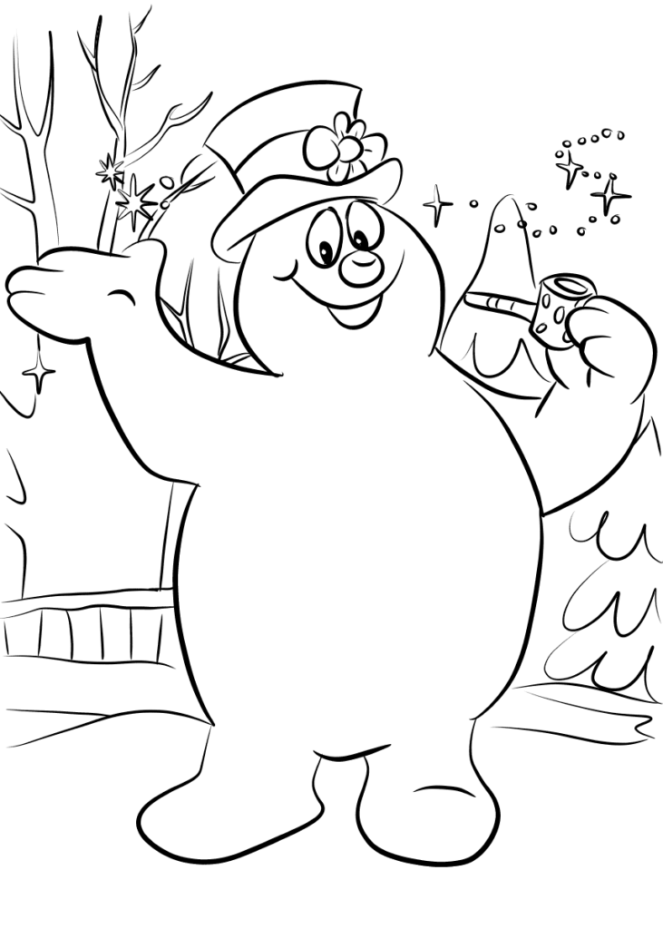 frosty the snowman coloring page free printable frosty the snowman coloring pages best the coloring snowman page frosty