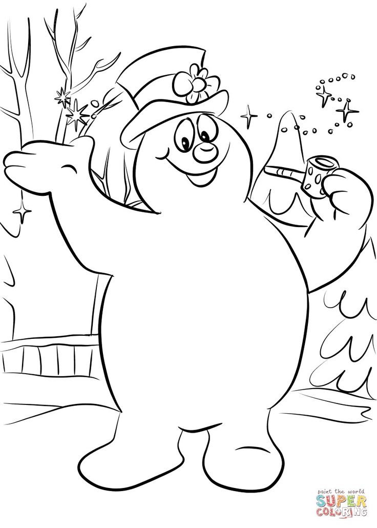 frosty the snowman coloring page frosty snowman head clipart outline clipground page the coloring snowman frosty