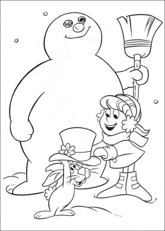 frosty the snowman coloring page frosty the snowman coloring pages frosty the snowman coloring frosty page snowman the