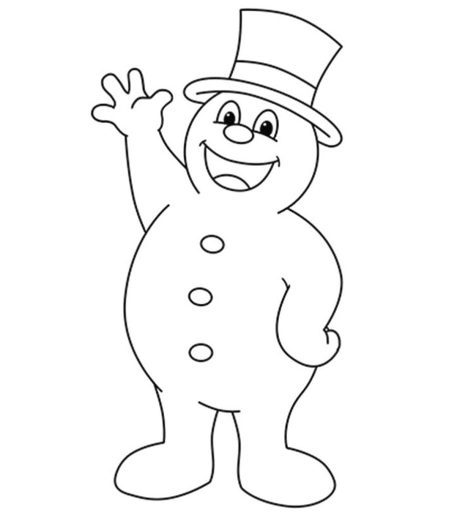 frosty the snowman coloring page snowman directed drawing at getdrawings free download frosty snowman page the coloring