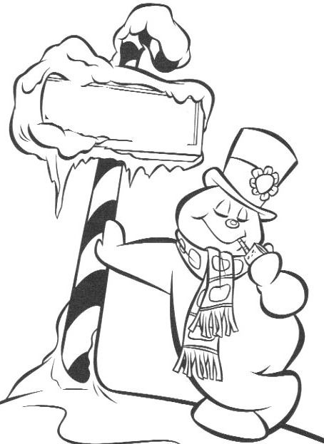 frosty the snowman printable coloring pages 6 best images of frosty the snowman story printable frosty printable coloring pages the snowman
