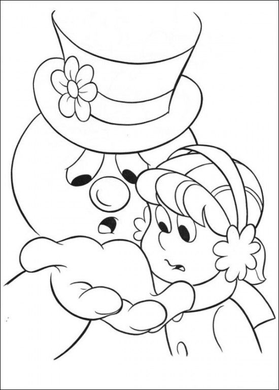 frosty the snowman printable coloring pages free printable frosty the snowman coloring pages best printable frosty coloring the pages snowman