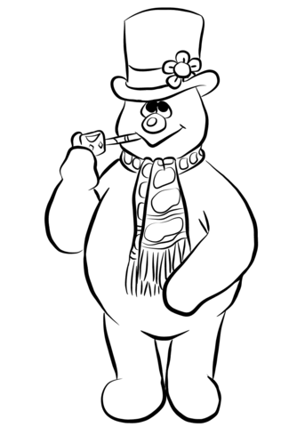 frosty the snowman printable coloring pages frosty the snowman coloring page free printable coloring pages frosty snowman the coloring printable