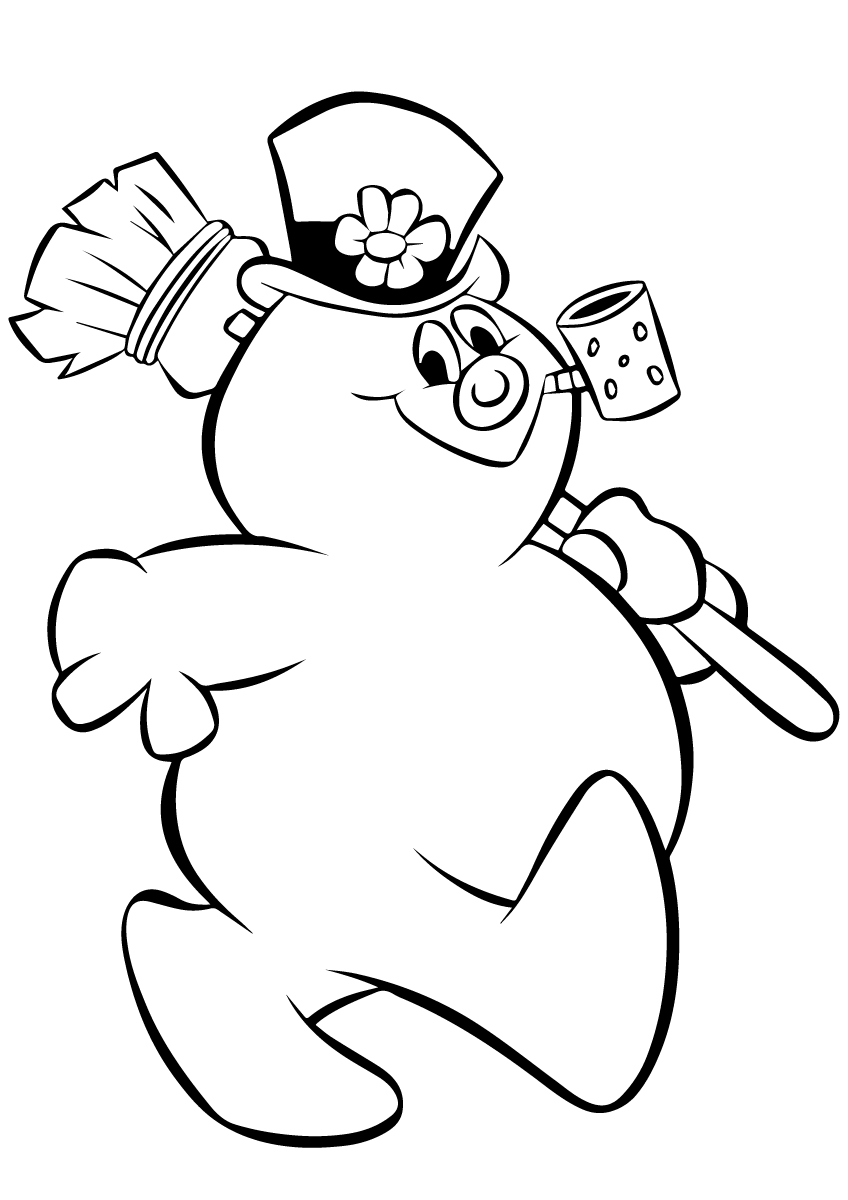 frosty the snowman printable coloring pages frosty the snowman coloring pages snowman pages the coloring frosty printable