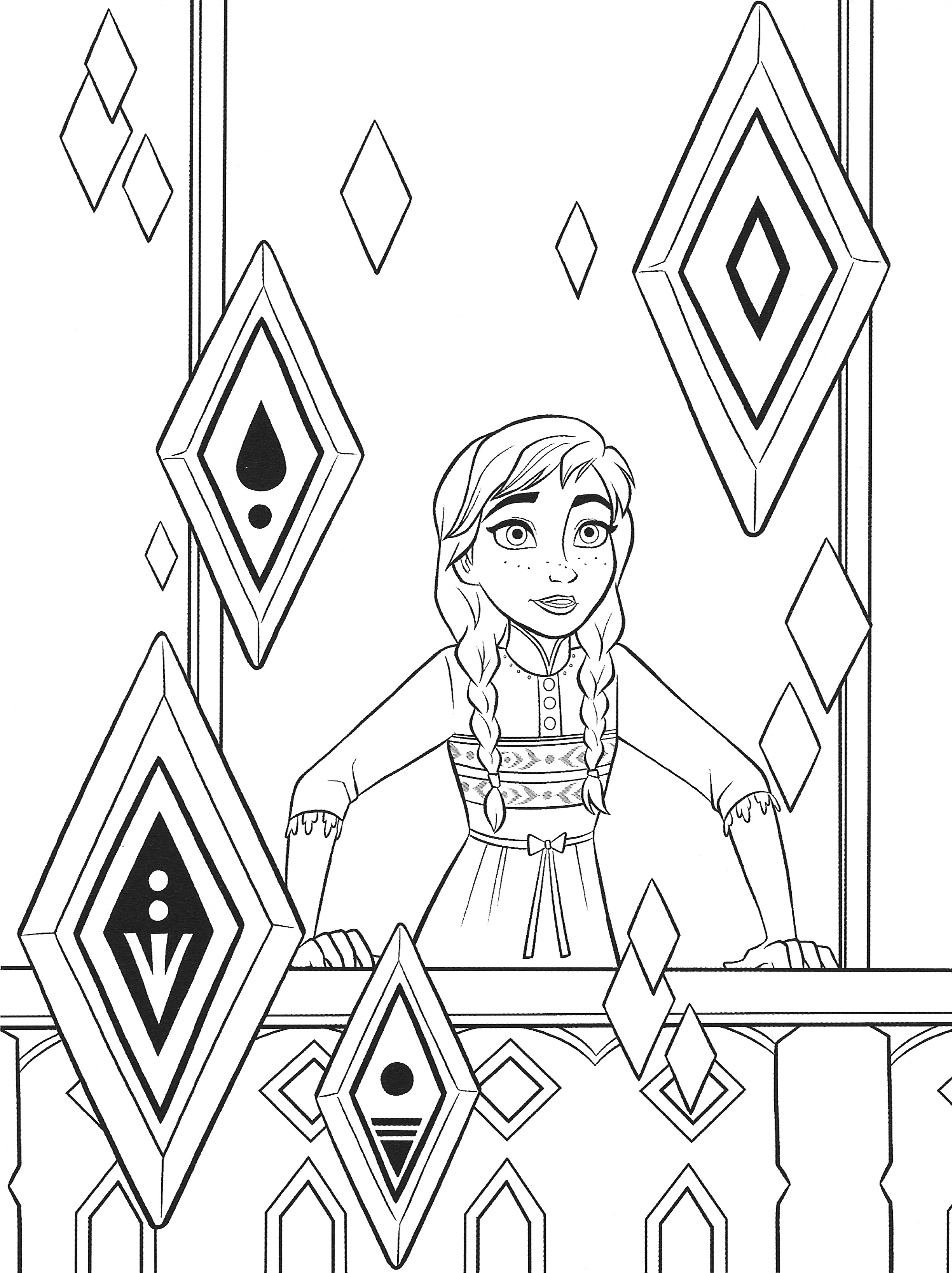 frozen 2 coloring pages new frozen 2 coloring pages with anna youloveitcom 2 coloring frozen pages