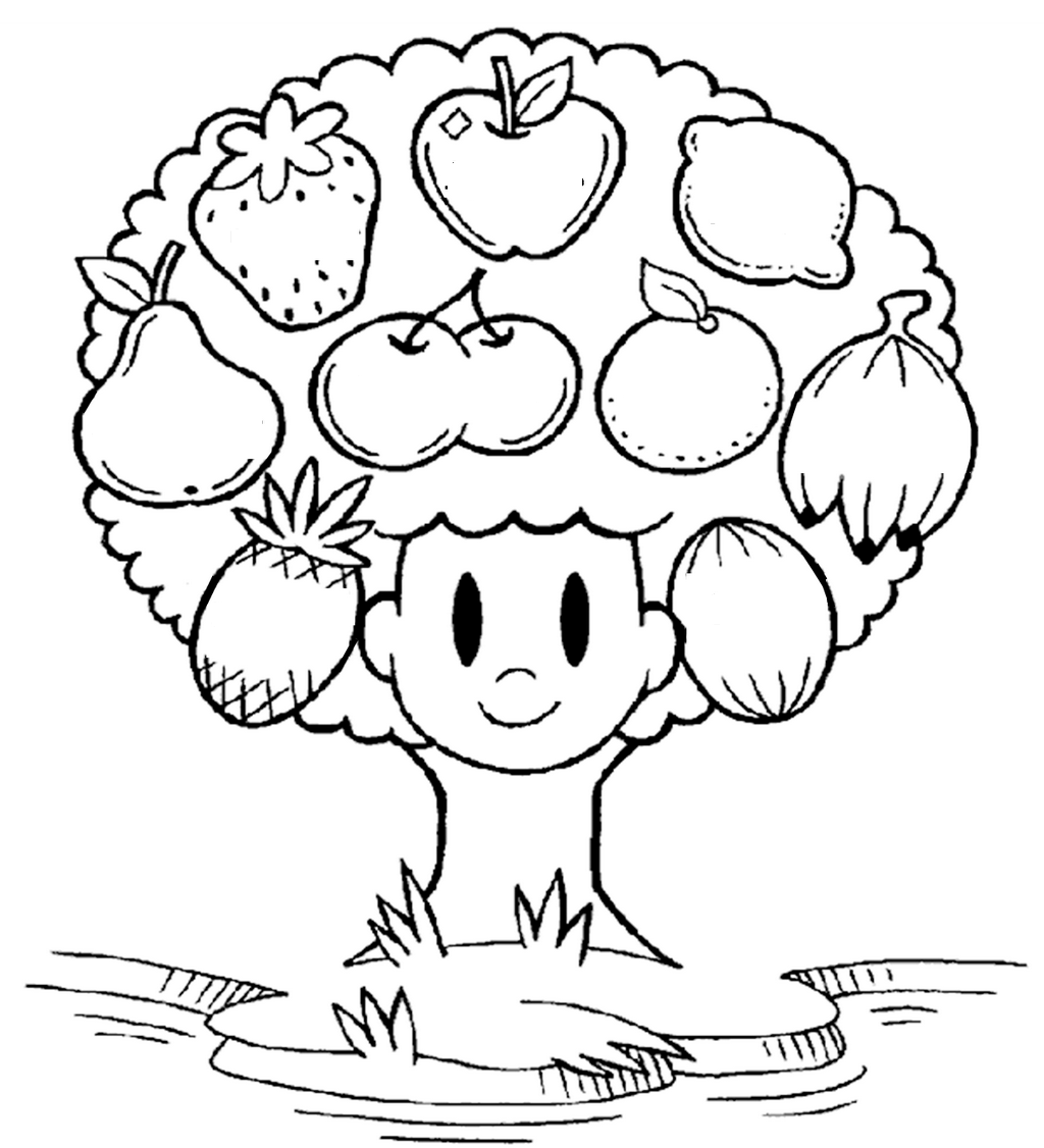 fruit tree coloring page breadfruit coloring pages download and print breadfruit tree fruit coloring page
