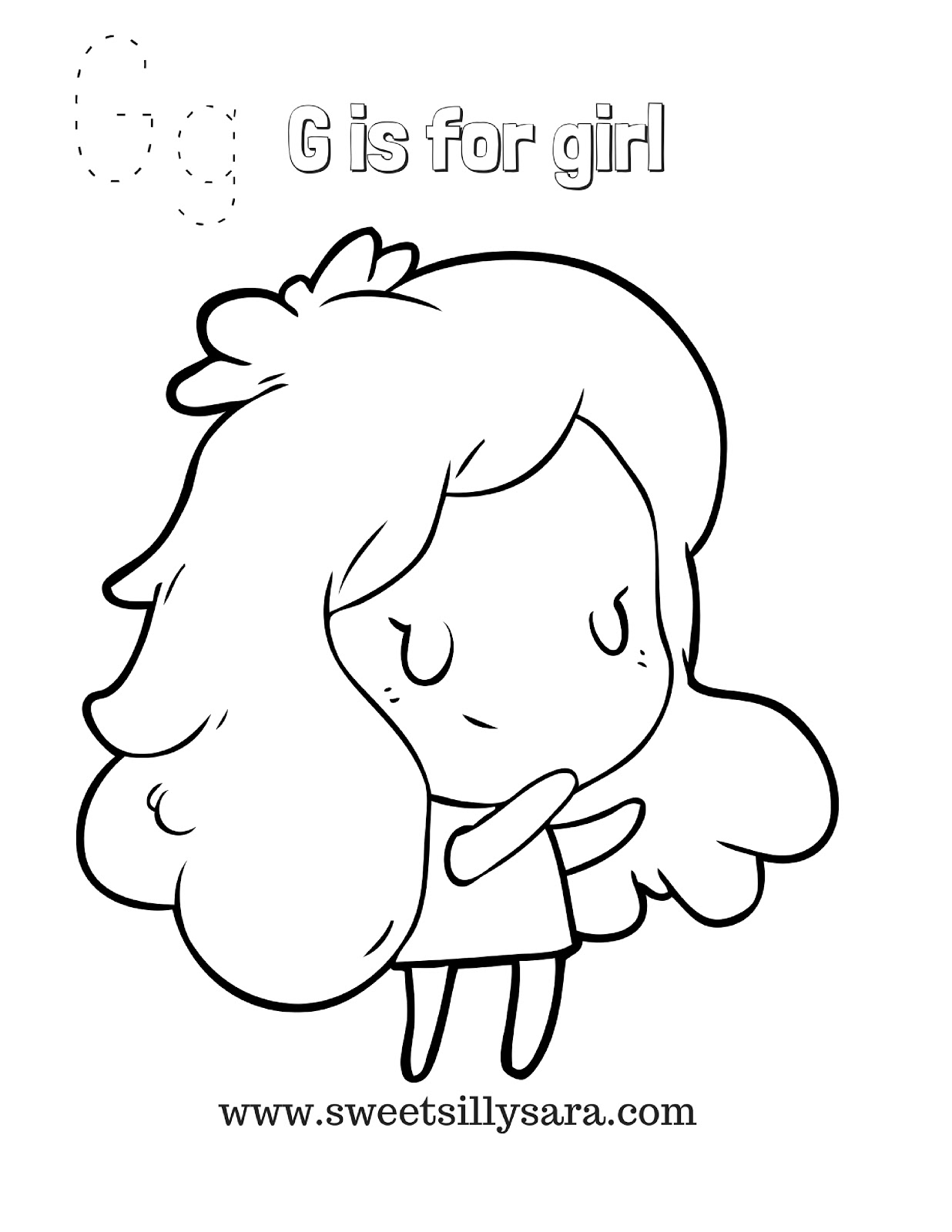 g is for girl coloring page free letter g coloring sheet download free clip art free for girl page is coloring g
