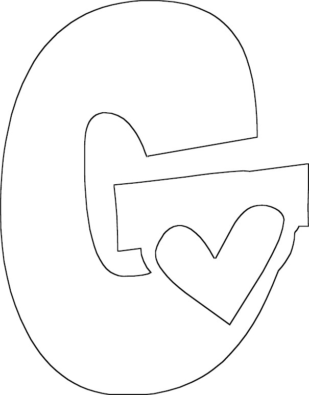 g is for girl coloring page full letter g coloring page for page coloring g girl is