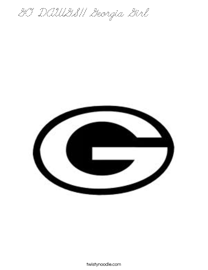 g is for girl coloring page go dawgs georgia girl coloring page cursive twisty noodle coloring girl g is for page